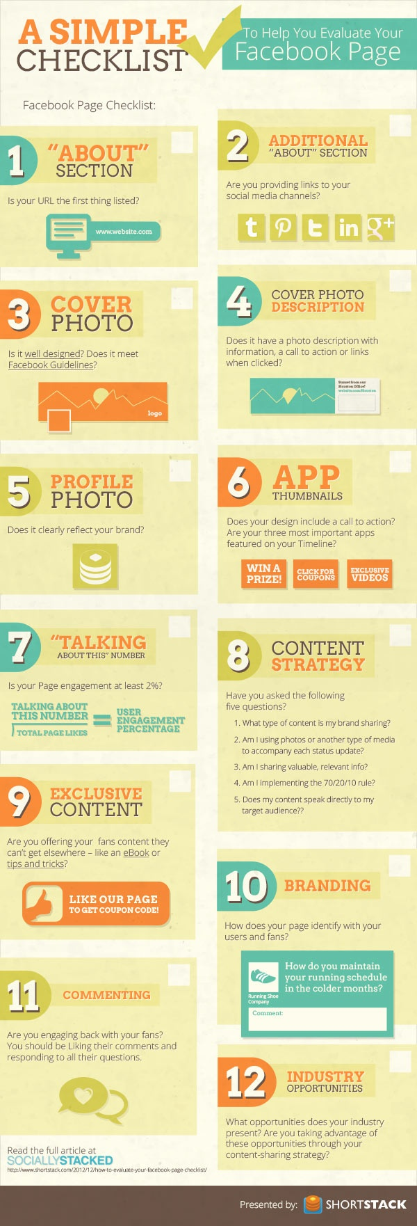 checklist to evaluate your facebook page #infografia