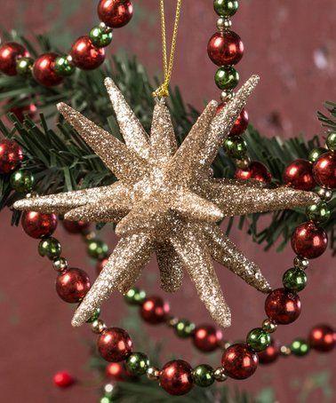 Look at this #zulilyfind! Moravian Star Ornament - Set of Four #zulilyfinds