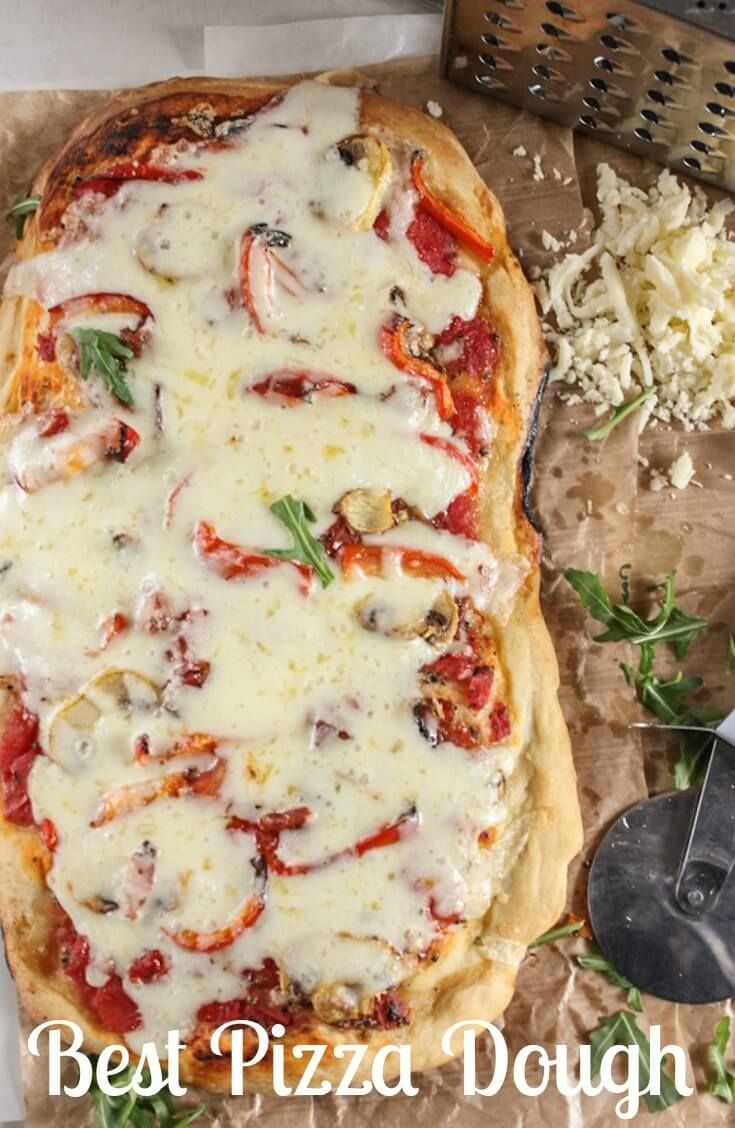 Best Pizza Dough, an easy, homemade pizza dough recipe that will become your favorite go to for pizza night.  Thick or thin crust you decide. via @https://it.pinterest.com/Italianinkitchn/