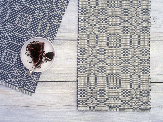 White And Charcoal Grey Cotton Table Runner Reversible By Leedas Use Coupon Code Pin10 At The