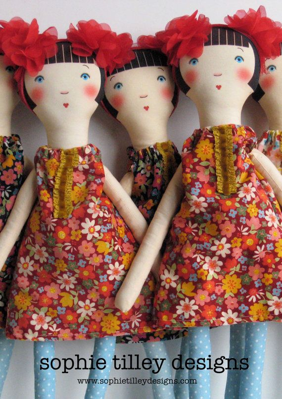 Cloth Doll - inspiration only -- beautiful doll!