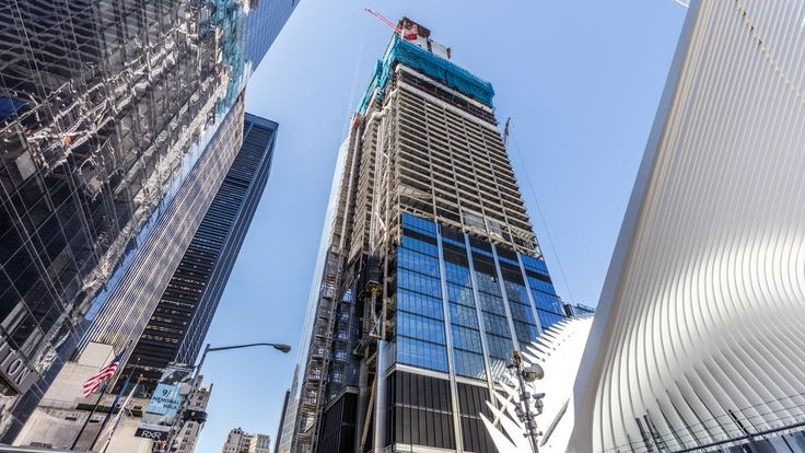 The third tallest building at the 3 World Trade Center site, the structure will stand 1,079 feet tall when it is complete. GroupM has leased close to 700,000 square feet of office space in this 80-story building, which will be completed by 2018.