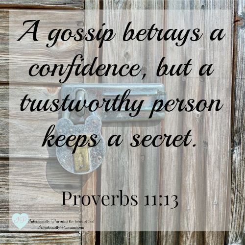 Proverbs 11:13 - Lost in Translation - IntentionallyPursuing.com