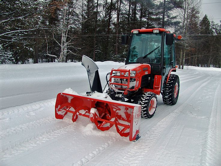 Kubota tractor with cab and snowblower, posted by smfcpacfp.