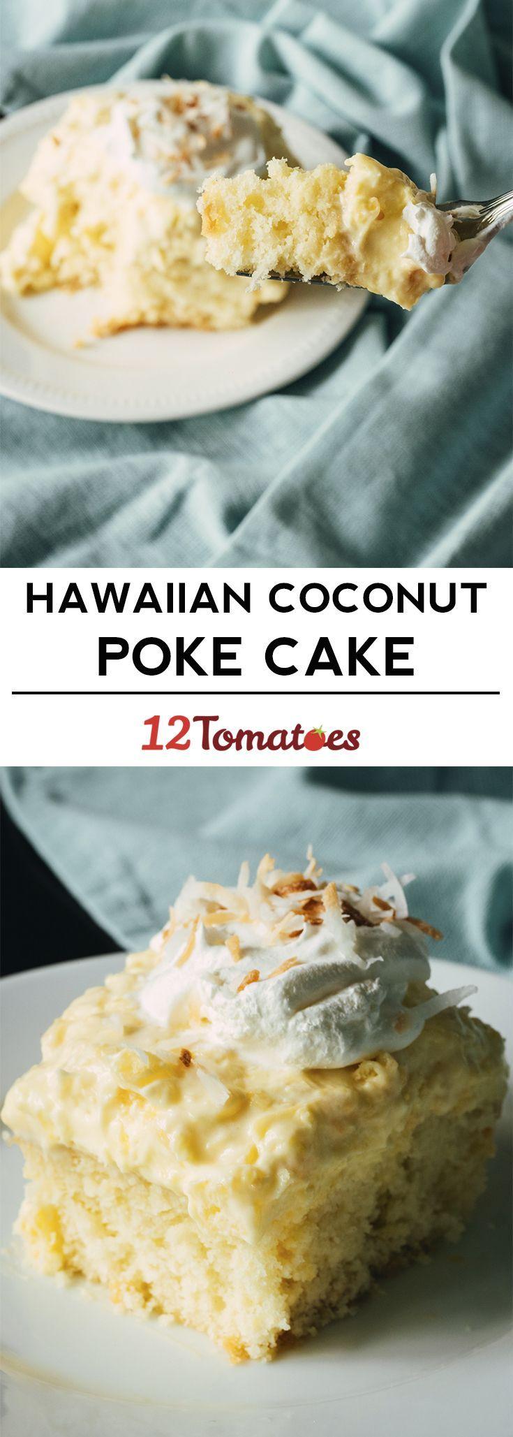 Hawaiian Coconut Poke Cake