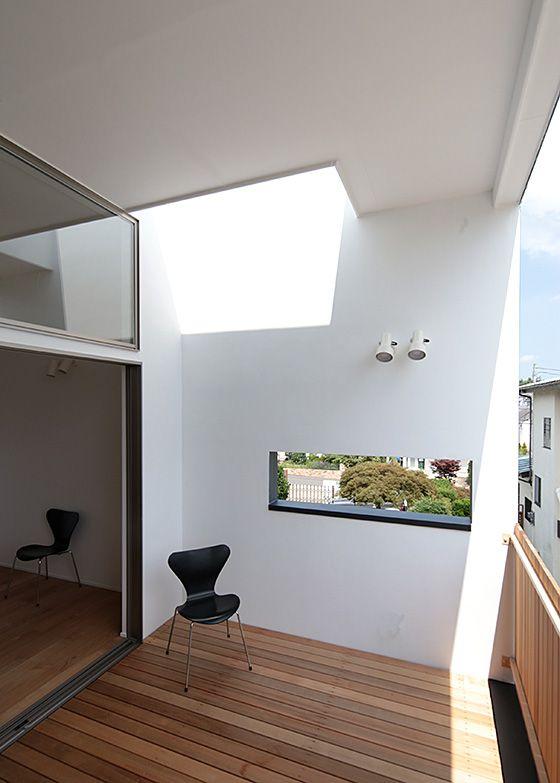 内と外をつなぐ、インナーテラスのある家