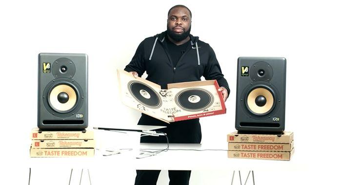Novalia transforma una caja para pizzas en una tornamesa