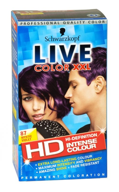 Schwarzkopf live color xxl hd hair colour 87 mystic violet