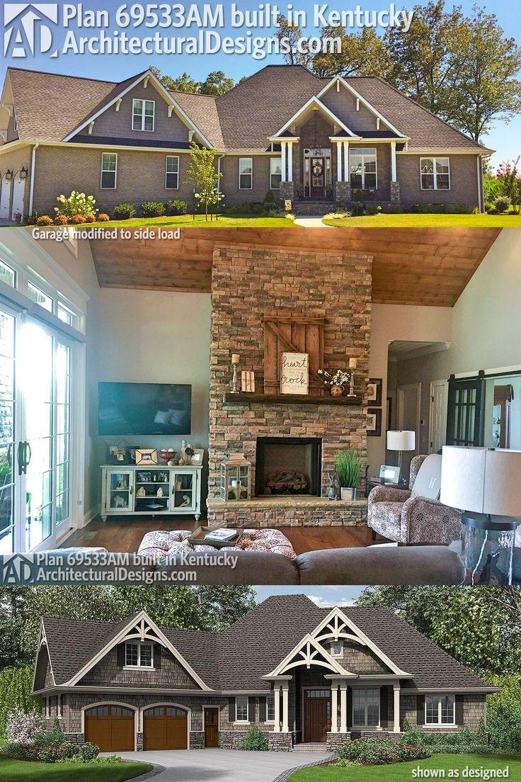 Architectural Designs Craftsman House Plan 69533AM was