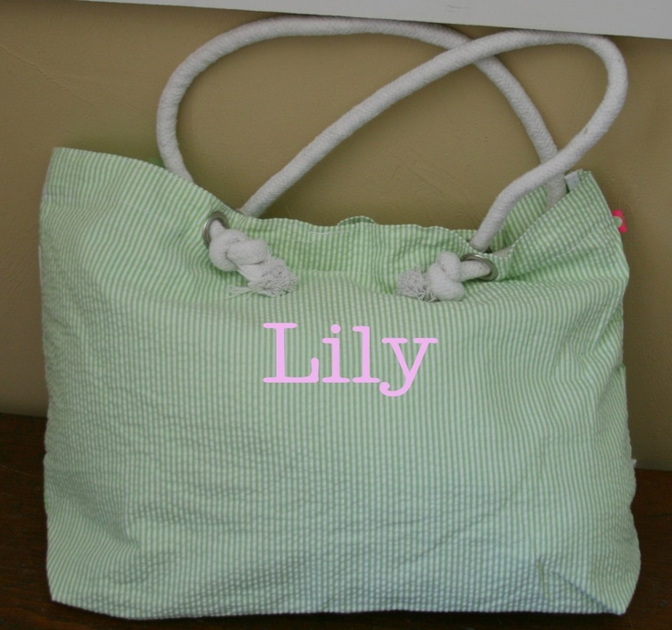 tinytulip.com - Seersucker Everything Tote Monogrammed, $26.50 (http://www.tinytulip.com/seersucker-everything-tote-monogrammed)Seersucker Totes, Totes Pur, Special Gift, Totes Monograms, Bridesmaid Gifts, 2650, Personalized Gift, Tinytulip Com, Bags Totes