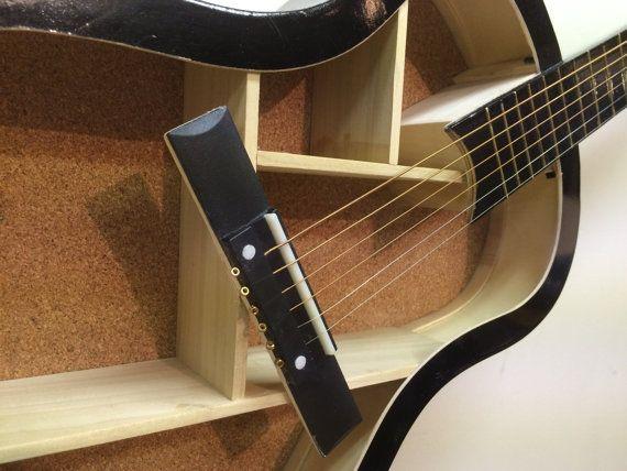 Guitar Shelf  12. Re-purposed 38 black acoustic guitar.