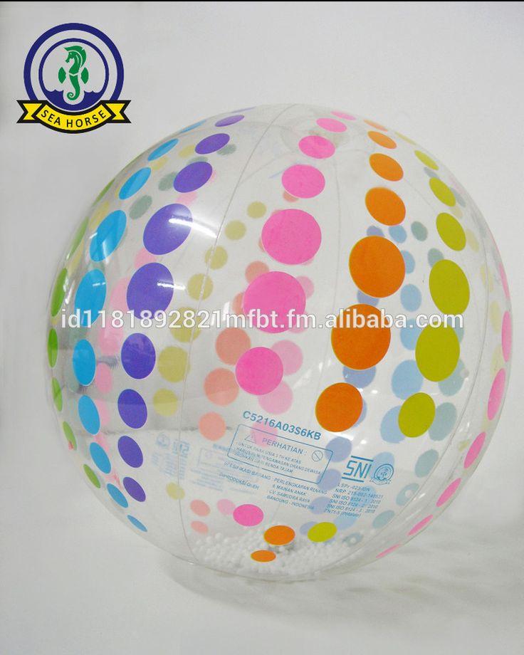 PVC Inflatable Polka Beach Ball Promotional Item 43cm