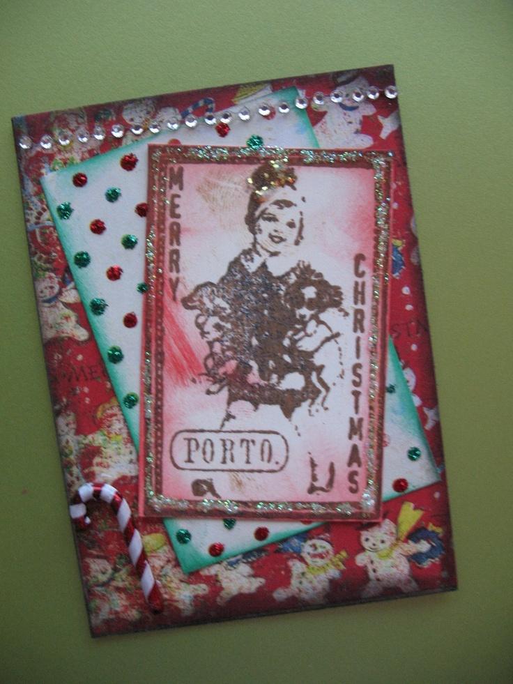 Calendar Art Journal : Vintage themed christmas atc artist trading card