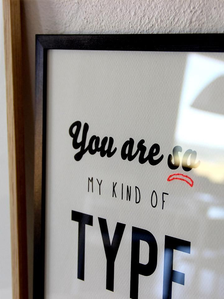 You are SO my kind of type. Typography and thread