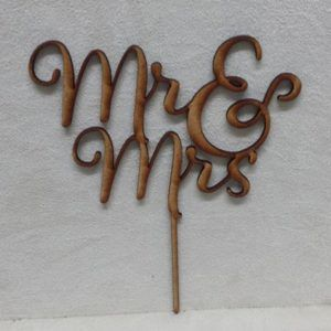 Imagine If Creative Studios - MDF Cake Topper - Mr and Mrs Topper