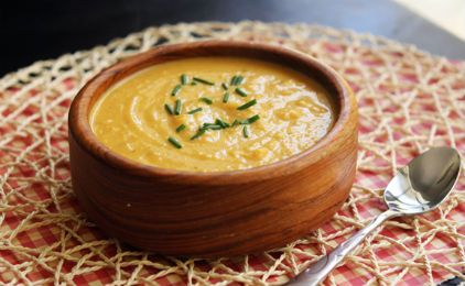 Σούπα βελουτέ με γλυκοπατάτα