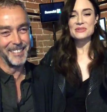 John Hannah and Mallory Jansen from a special livetweet event for MARVEL'S Agents of S.H.I.E.L.D. - 31 Jan 2017