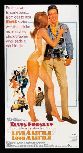 Live A Little Love A Little CineMasterpieces Movie Poster Elvis Presley   eBay