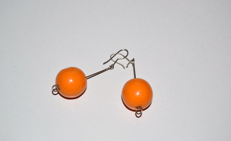 Pendientes naranja 3 euros