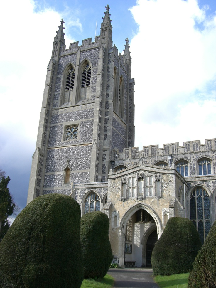Holy Trinity, Long Melford, Suffolk... where Elizabeth Tilney stained glass is.