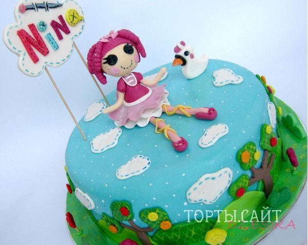 Круглый торт с Лалалупси Принцессой