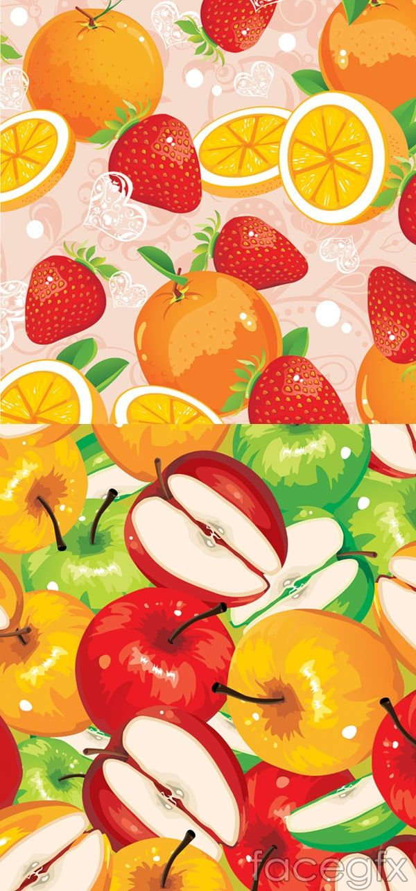 Various fruits vector free