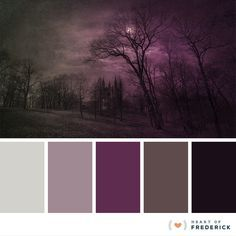 #Farbbberatung #Stilberatung #Farbenreich mit www.farben-reich.com Color Palette: Spooky Halloween-Inspired Hues from heartoffrederick.com