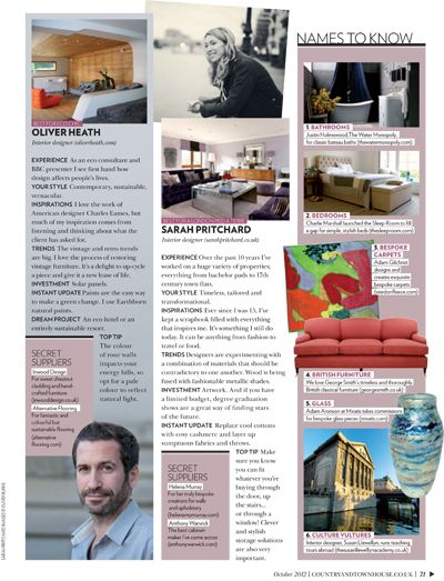 Adam Aaronson's Thames Reflections vase was featured in Country & Town House Magazine, October 2012. Find Adam's work on our website: http://www.miratis.com/glass.html?manufacturer=94