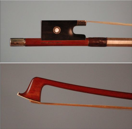A pristine 1925 French violin bow crafted by Eugene Sartory is available for examination and trial. Serious inquiries only. #French #violin #bow #EugeneSartory #BenningViolins