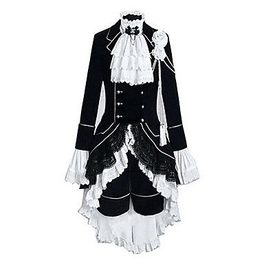 Inspired by Black Butler Ciel Phantomhive Anime Cosplay Costumes Cosplay Suits Color Block Patchwork Long SleeveVest Shirt Skirt 5344310 2017 – $66.10