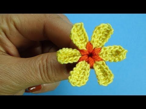 Начинаем вязать – Видео уроки вязания » Маленький очаровашка – Вязаные цветы – Урок №94