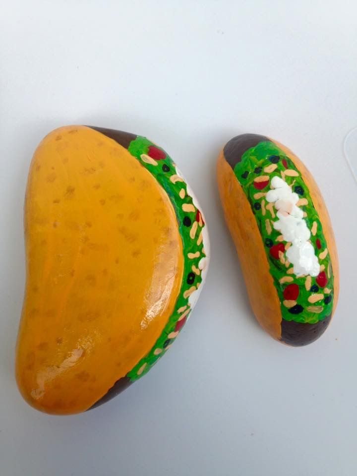 painted pumpkin rock craft taco taco supreme painted rocks by n painting 5060