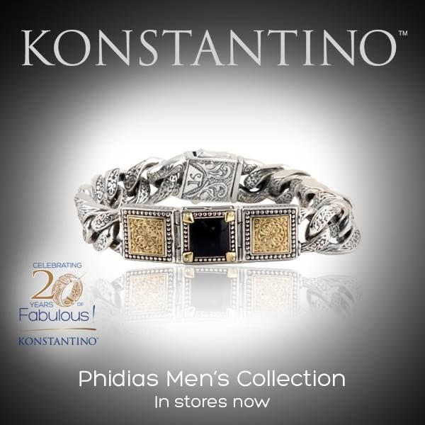 #konstantino #20yearanniversary #jewelry #greece #jewels #treasure #mensfashion #Phidias