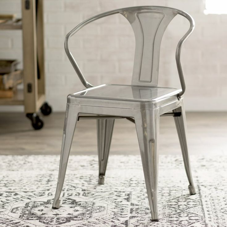 Carmel metal slat back arm chair chair trent austin