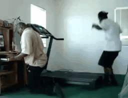 Exercise on running machine fails