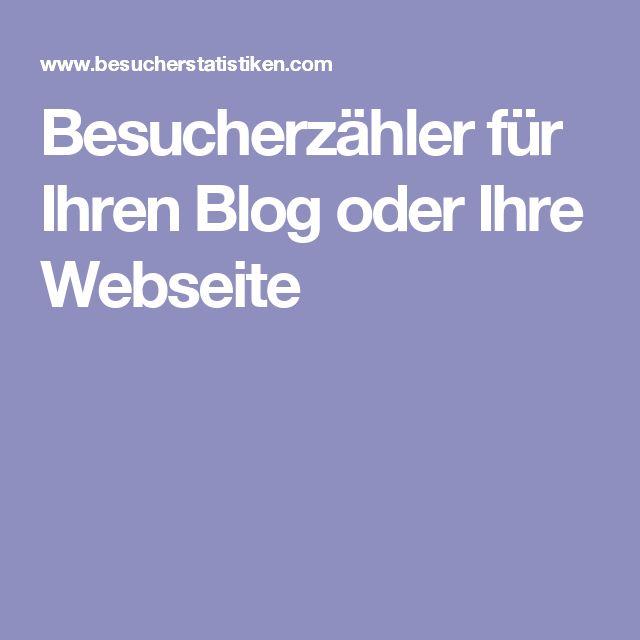 Besucherzähler für Ihren Blog oder Ihre Webseite