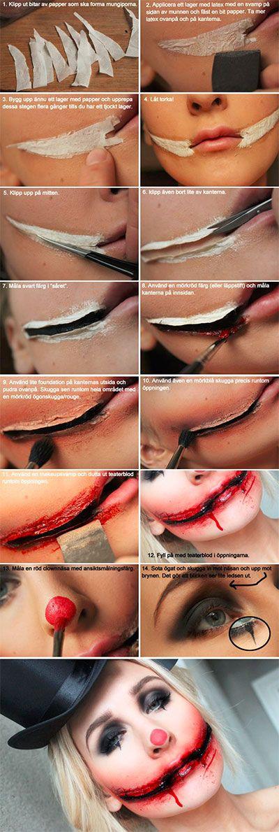 bloody-clown-halloween-makeup-tutorial-hacks-how-to                                                                                                                                                                                 More