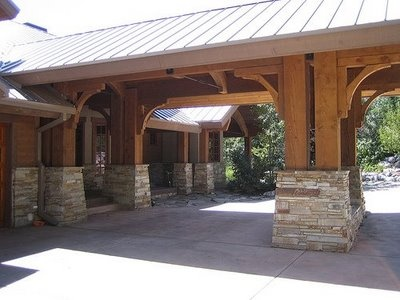 17 best images about detached garage porte cochere on for Porte cochere home plans