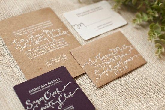 letterpress printed calligraphy...