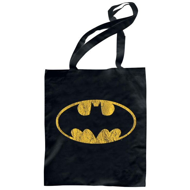 L: 38.5 cm, W: 40.5 cm  You'd like to show your fascination of the dark world of the secret knight Bruce Wayne? Then check out the black Batman logo cloth bag. On the bag is a print of the ...
