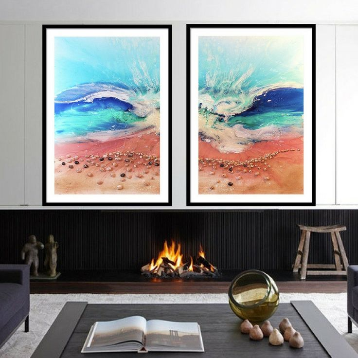 Laguna Beach 4 - Set of 2 Artworks - Antuanelle - Limited Edition Print or Commission original artwork by MarieAntuanELLE on Etsy