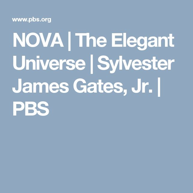 NOVA | The Elegant Universe | Sylvester James Gates, Jr. | PBS