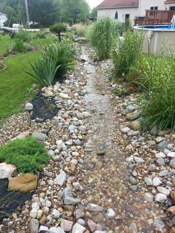 Working Dry River Bed 2015 Garden After Dry Creek Bed