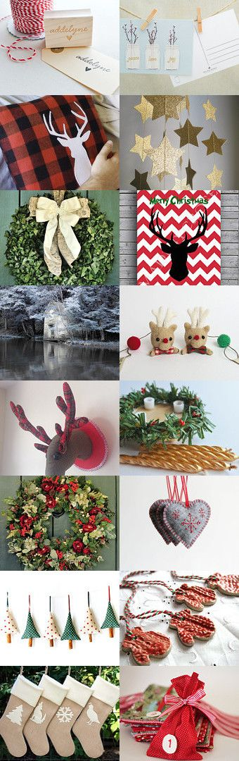 waiting for Christmas: not only red! by Anna C. on Etsy--Pinned with TreasuryPin.com