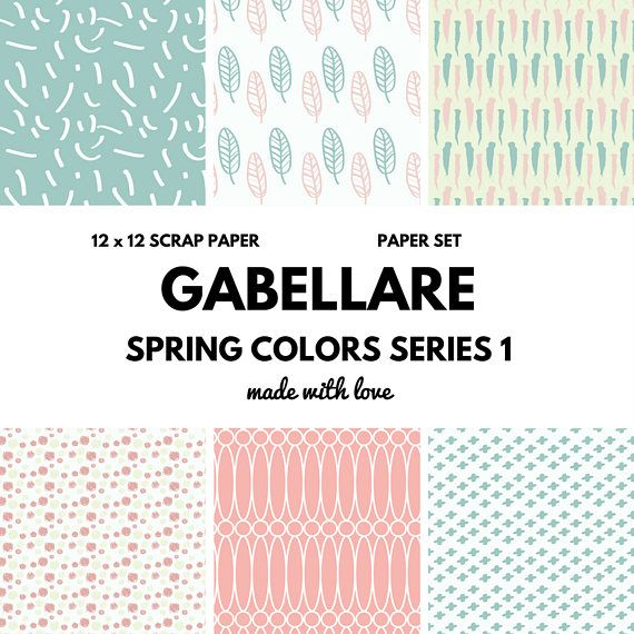 DIGITAL PAPER - SPRING COLORS     Every piece is handmade and edit through computer softwares to guarantee the quality and style our customers are looking for.  Make this digital paper pieces part of your office or home toda...