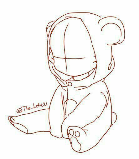 Dibujar Pandita/ panda kawaii