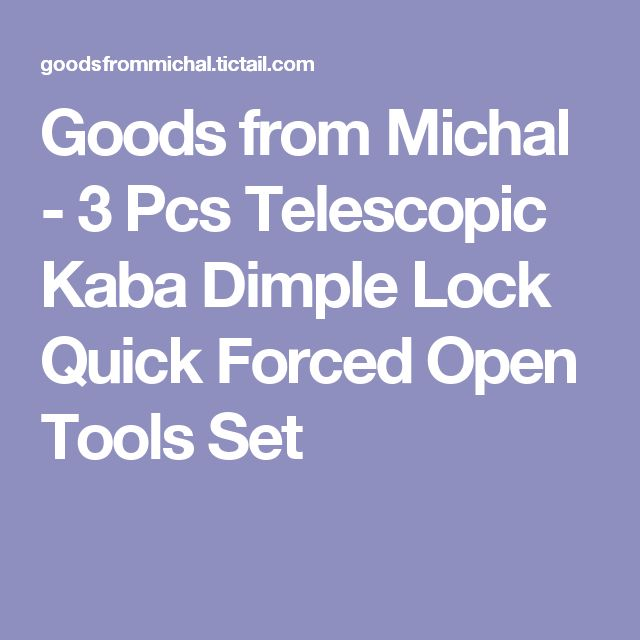Goods from Michal - 3 Pcs Telescopic Kaba Dimple Lock Quick Forced Open Tools Set