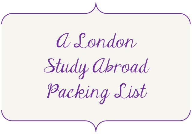 Study Abroad Packing List Created for Students by Students