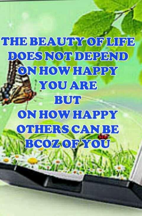 How happy bcoz of u