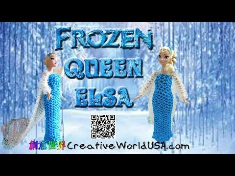 Rainbow Loom Frozen Queen Elsa/Barbie Dress/Wedding/Evening Gown 婚紗禮服/晚禮服 - 彩虹編織器中文 Chinese Tutorial - YouTube